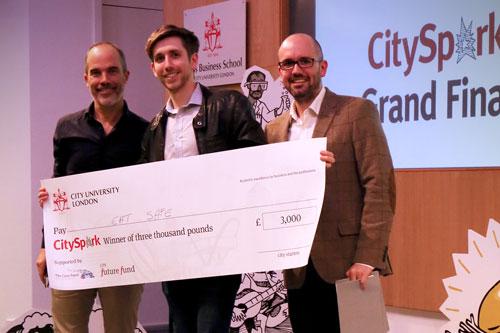 City Spark Eat Safe accept their cheque